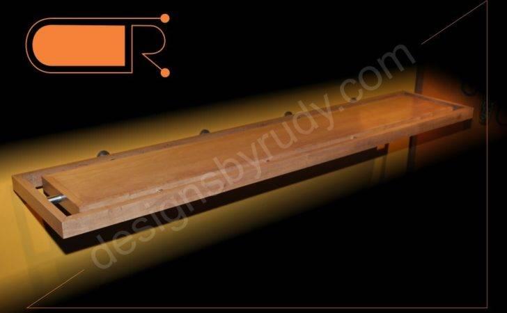 Fireplace Custom Mantel Shelf Made Maple Stainless Steel