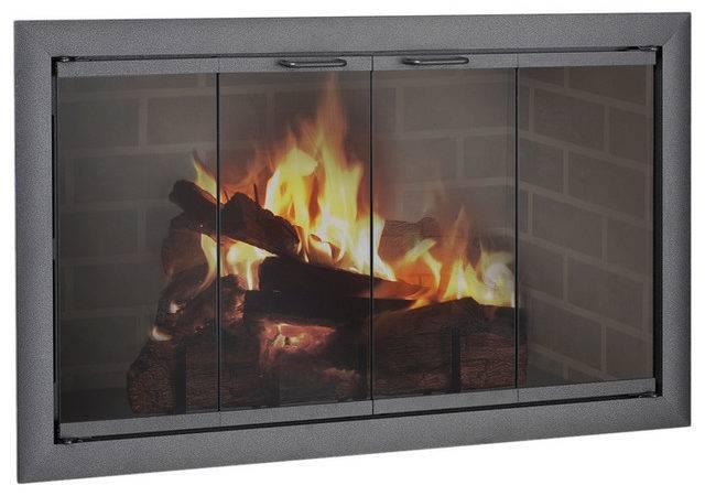 Fireplace Glass Door Custom Product Traditional