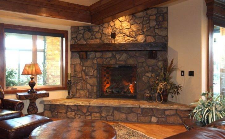 Fireplace Ideas Decorate Rustic Brick
