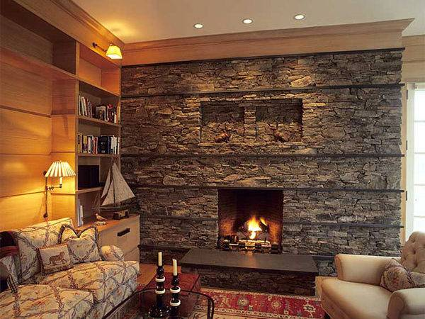 Fireplace Stone Ideas Cozy Nature Inspired Home