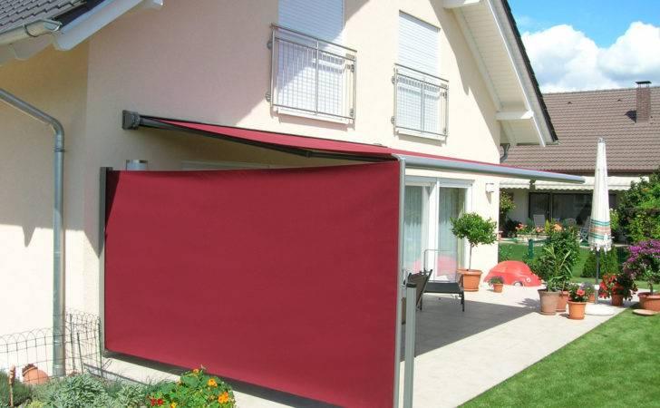 Firma Borchert Fassadenmarkisen Seitensichtschutz