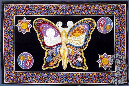 Flags Tapestries Sun Moon Fairy Tapestry