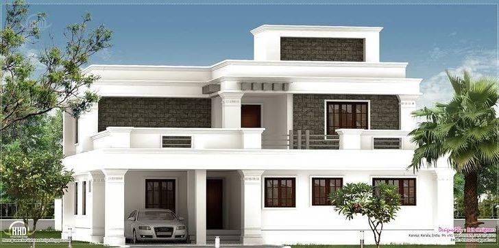Flat Roof Homes Designs Villa Exterior Feet