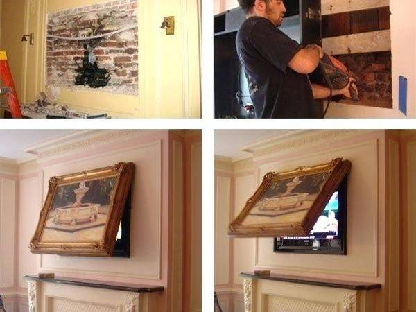Flat Screen Cover Ups Your House Architecture