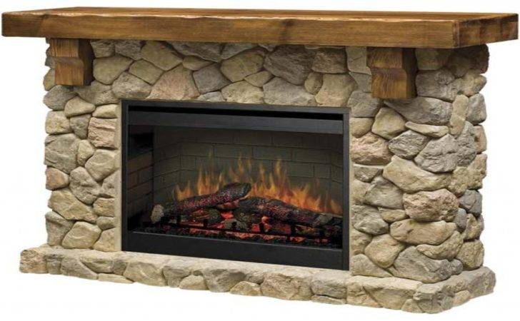 Flat Stone Fireplace Fieldstone Electric Gas