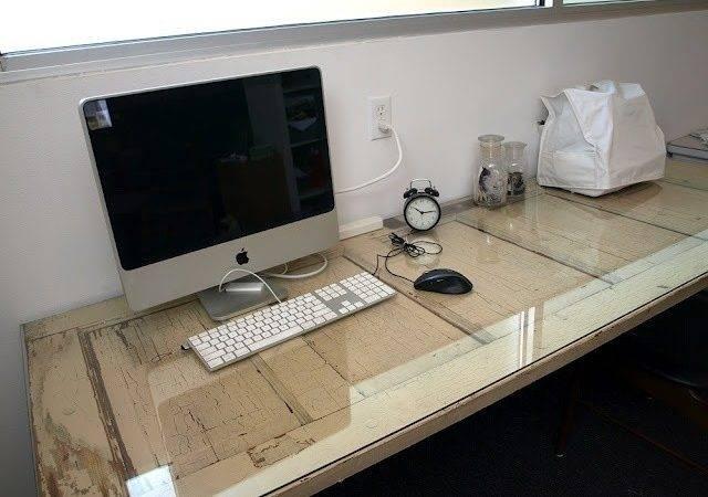 Floating Desk Desks Ideas Old Doors Diy Miggy