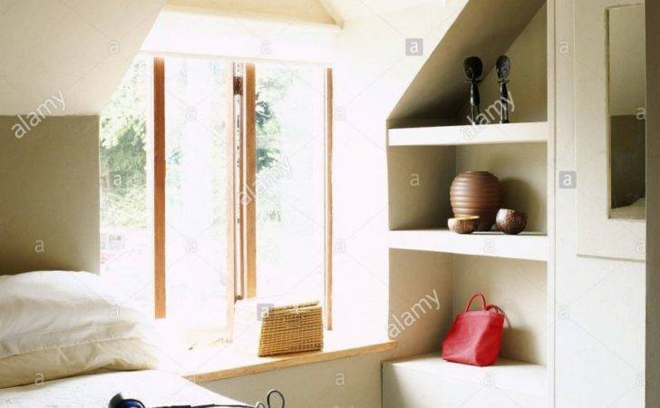 Floating Shelves Alcove Bedroom Shelving Ideas