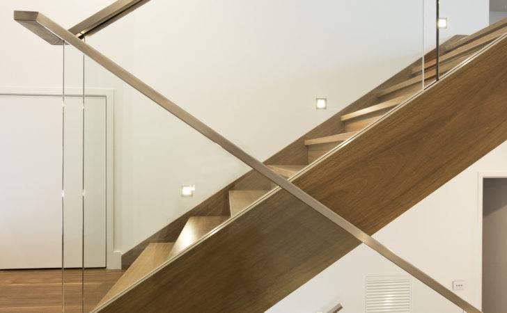 Floating Staircase Modern Stainless Steel Handrail Banister