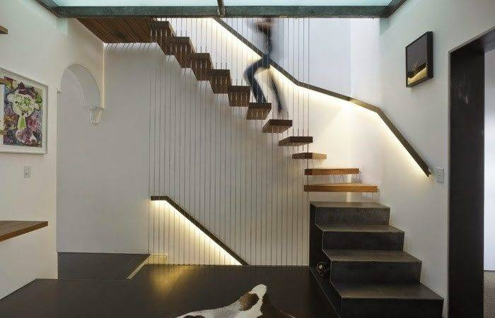 Floating Stairs Designs Self Supported Internal Staircase