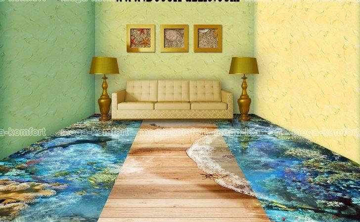 Floor Art Self Leveling Living Room Flooring Ideas