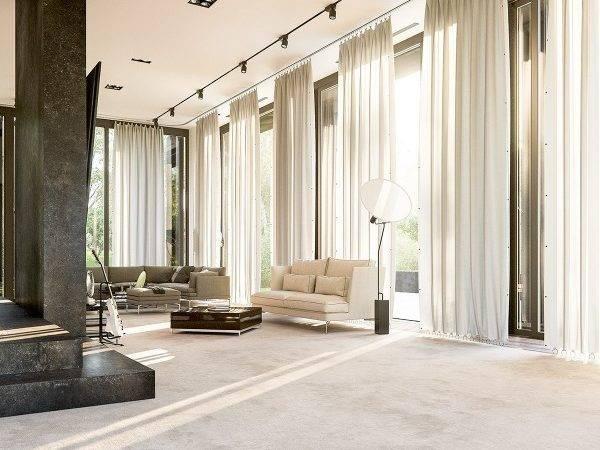 Floor Ceiling Window Curtains Interior Design Ideas
