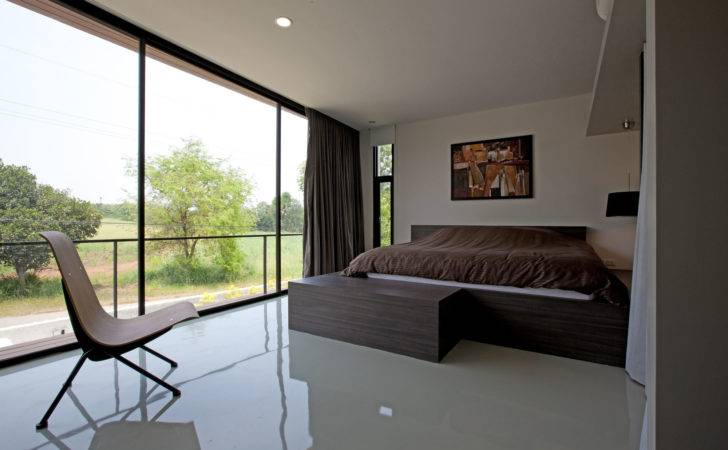 Floor Ceiling Windows Bedroom Reflected Enhance