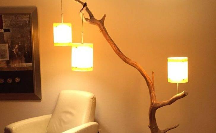 Floor Lamps Diy Lamp Rustic Arc Real
