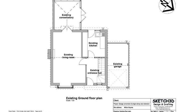 Floor Plan Before Garage Conversion Extension Design Plans