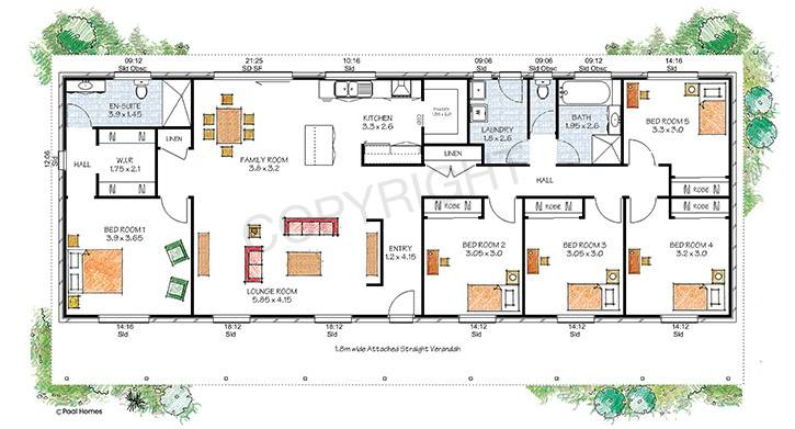 Floor Plan Paal Kit Homes Offer Easy Build Steel Frame