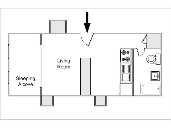 Floor Plan Would Work Well Long Narrow Design Stackable