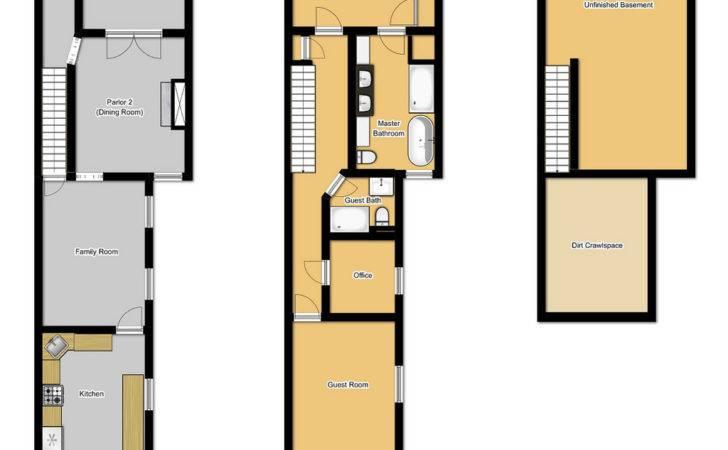 Floor Plans Long Narrow Houses House Design