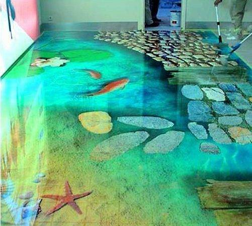 Flooring Ideas Bathroom Floor Murals Designs