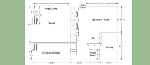 Floorplan Car Garage Conversion