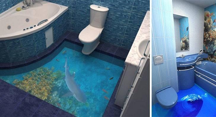 Floors Turn Your Bathroom Into Ocean Bored Panda