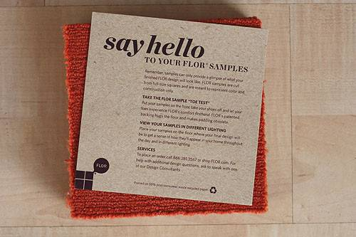 Flor Paper Included Samples Reads Say Hello Your