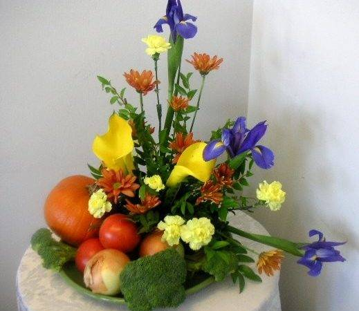 Floral Arrangement Fruits Vegetables Called Garden