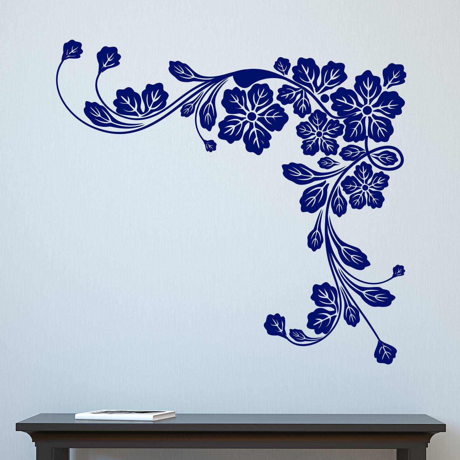 Floral Corner Leaves Wall Sticker Decal Ebay