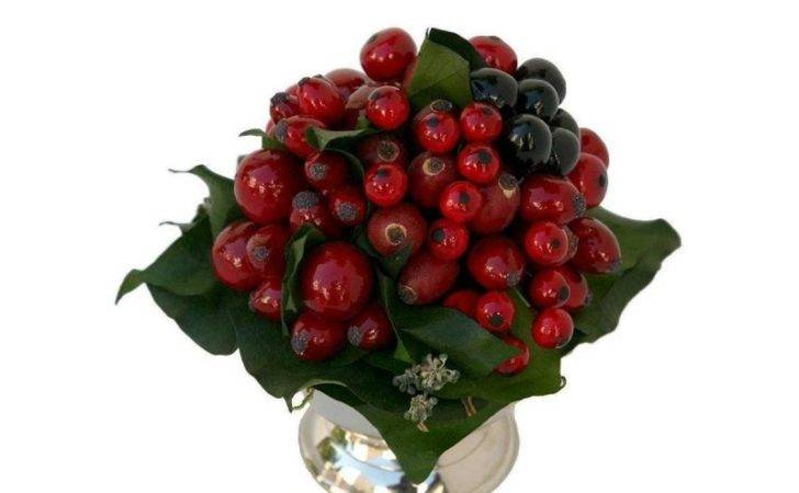 Flower Arrangements Arrangement Red Artificial Berries