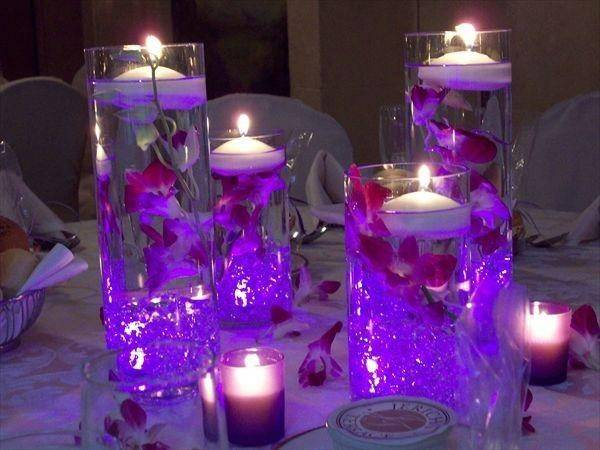 Flower Weddings Centerpieces Floating Candles