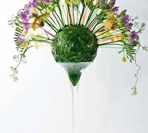 Flowers Table Decorations Orchid Freesia Flower Arrangement
