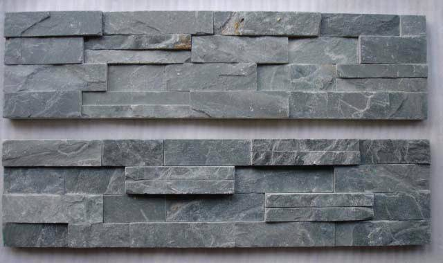 Fotos Stone Panel Stacked Grey Slate