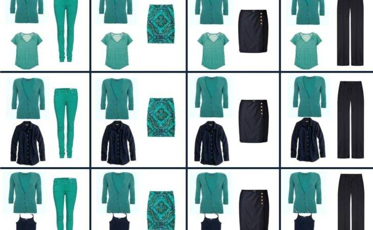 Four Capsule Wardrobe Teal Navy Vivienne Files