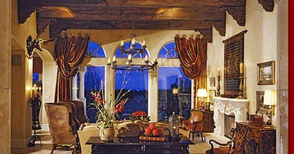 Foyer Tuscan Mediterranean Decorating Ideas Pinterest Window