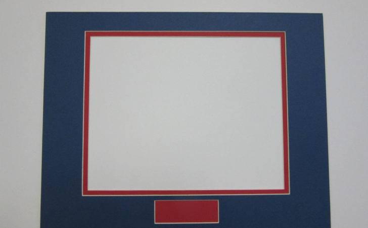 Frame Double Mats Set Custom Order Blue Red