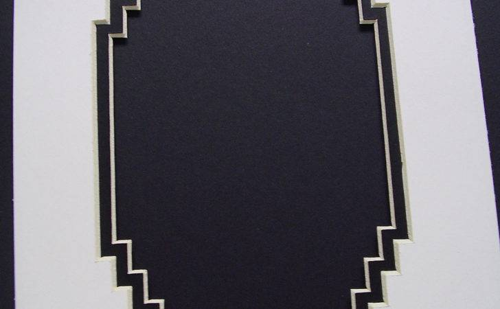 Frame Mat Black French Stairstep Corners