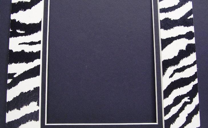 Frame Mat Double Zebra Print Black White Animal