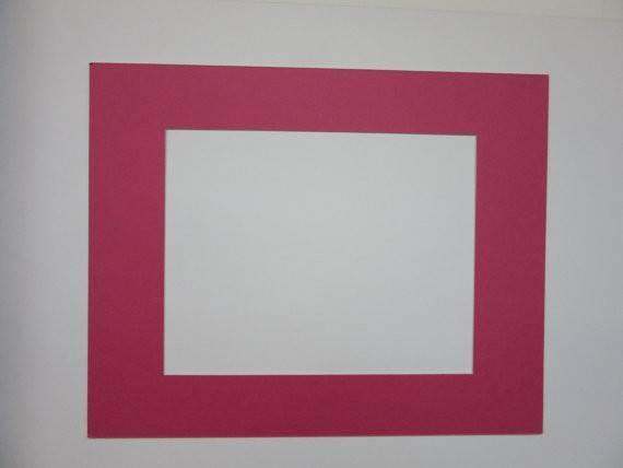 Frame Mat Hot Pink Single Art
