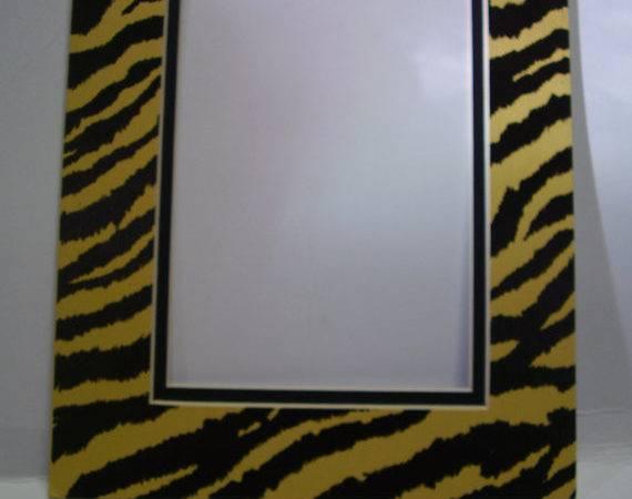 Frame Mat Tiger Stripe Yellow Black