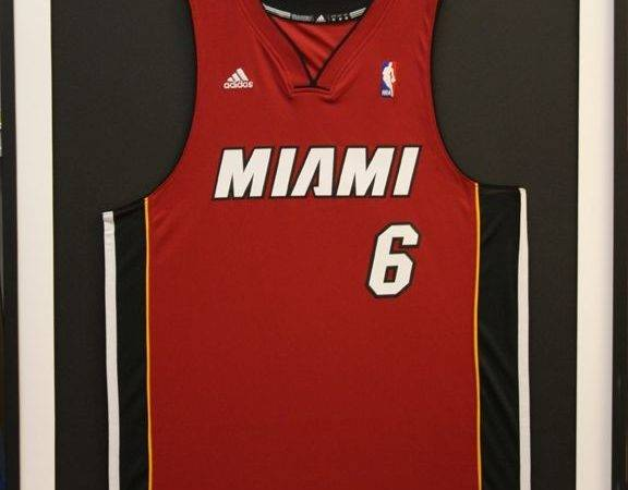Framed Basketball Jerseys Sports James Jersey Heat