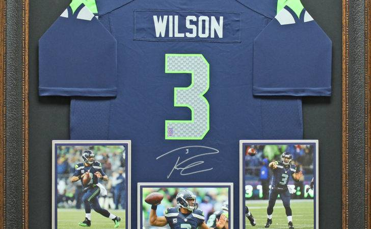 Framed Matted Signed Officially Licensed Seattle Seahawks Jersey