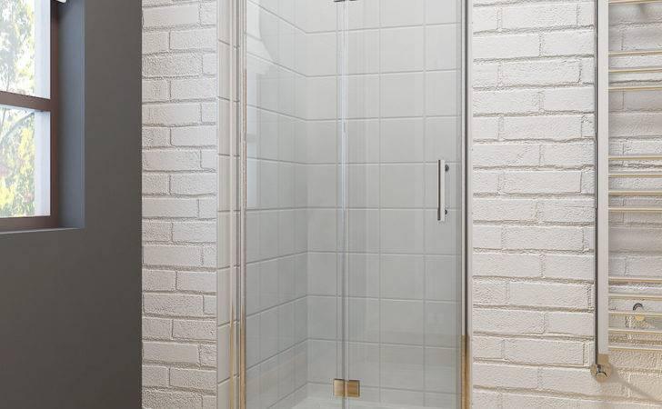 Frameless Bifold Shower Door Enclosure Hinge Glass Screen Walk