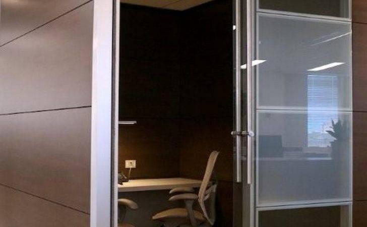 Frameless Glass Sliding Doors Modular Office Partitions