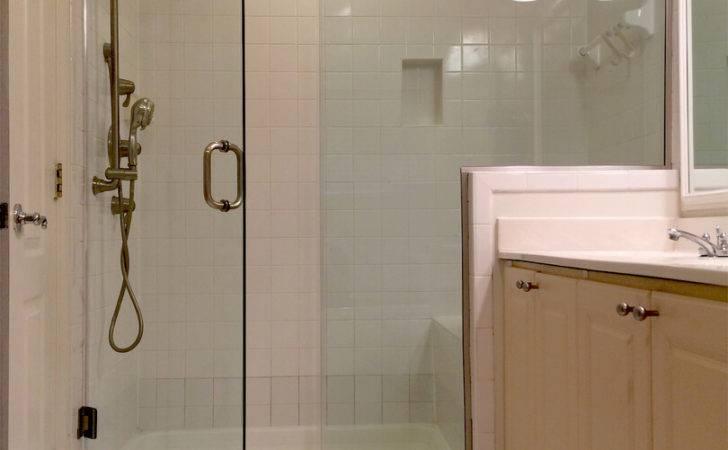 Frameless Inline Shower Enclosure Installed Clips Glass