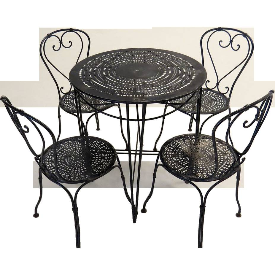 French Bistro Table Chairs Blacktulip Ruby Lane