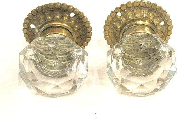 French Century Cut Crystal Door Knobs Grandtour Ruby Lane