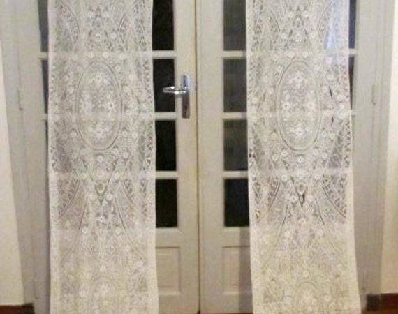 French Door Cotton Lace Curtains