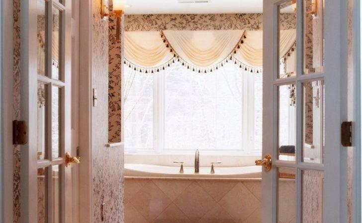 French Doors Open Into Formal Bathroom Suite
