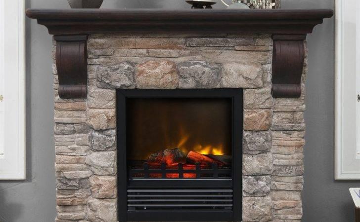 Fresh Austin Electric Fireplace Stone Look