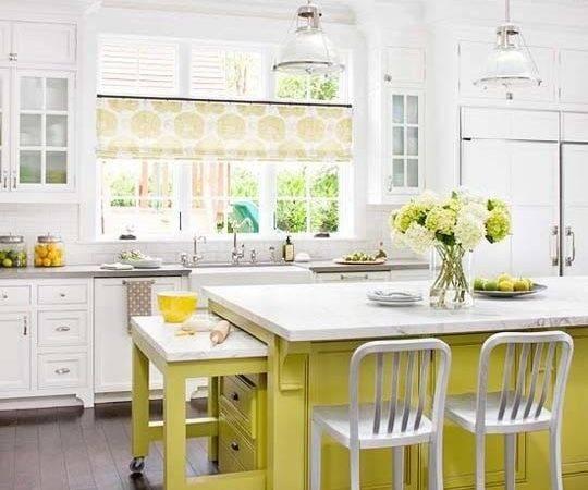 Fresh Kitchen Design Ideas Green Yellow Colours