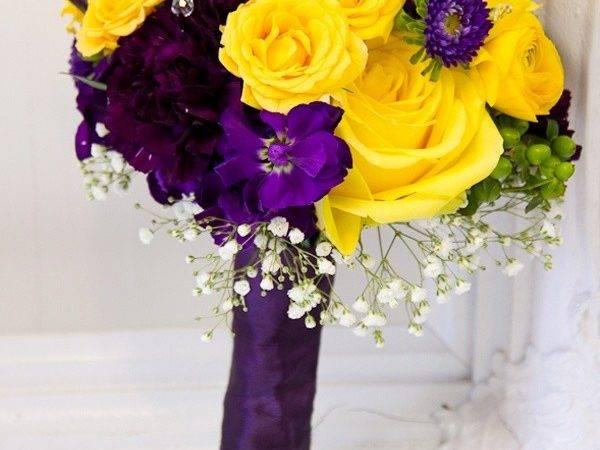 Fresh Kitchener Made Amazing Purple Yellow Bouquet